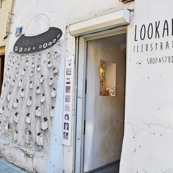 Eingang Lookarna Illustration Shop und Studio