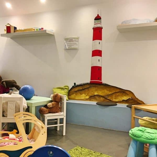 Kinderspielecke im Cafe de Bambini in München