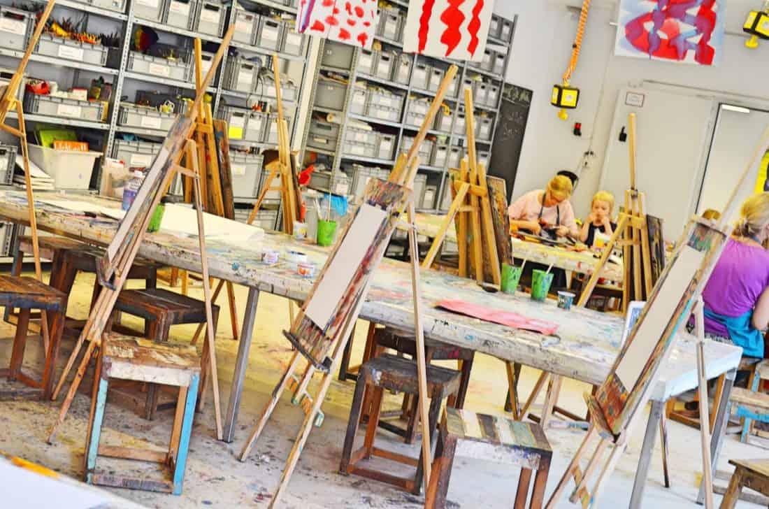 Kinderkunsthaus München Indoor Werkstatt