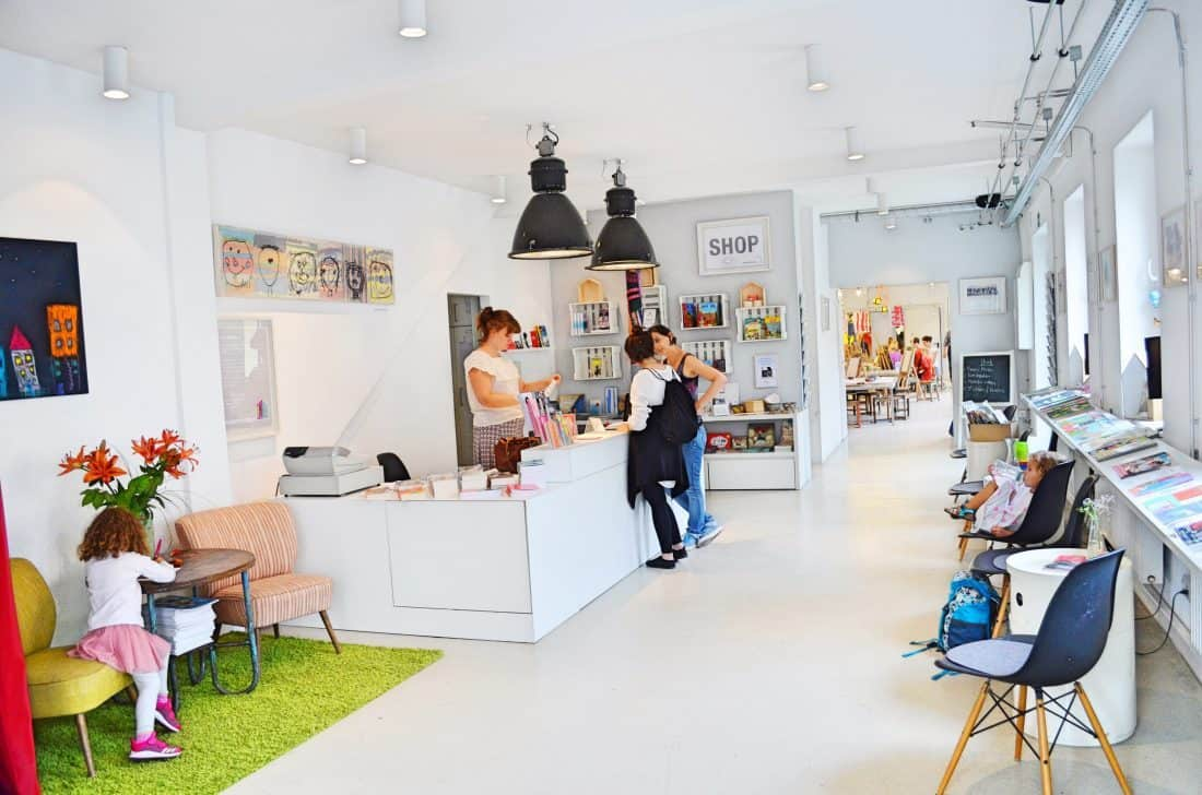 Kinderkunsthaus München Indoor Empfang