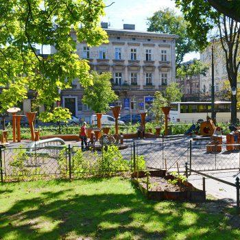 Kinderspielplatz Plac Zabaw Gesamtaufnahme