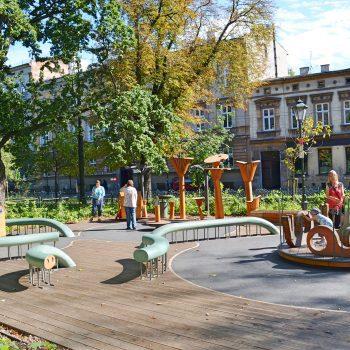 Kinderspielplatz für Kleinkinder in Krakau