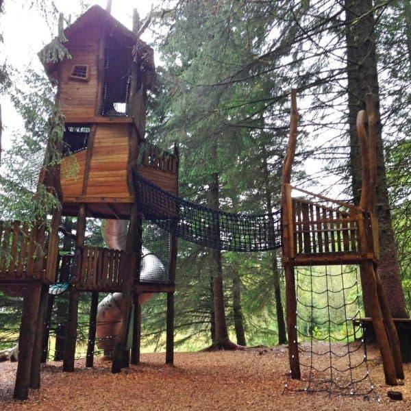 Kinderspielplatz in Bergen auf dem Floyen Berg