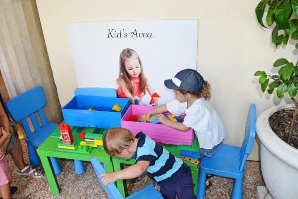 Kinderecke im Cafe Pedrocchi in Padua