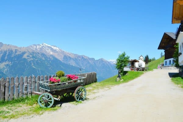 Meran Taseralm Ausblick Dolomiten