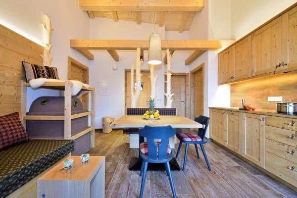 Trametschhütte Apartment Plose Wohnküche