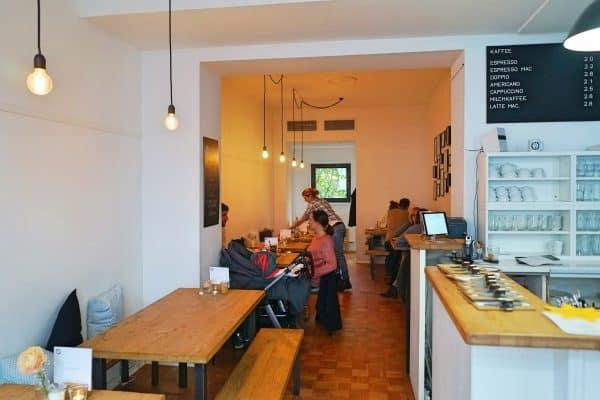 Kinderfreundliches Café A.nni in Düsseldorf Fingern mit Kinderspielecke, Hochstuhl, Wickelmöglichkeit