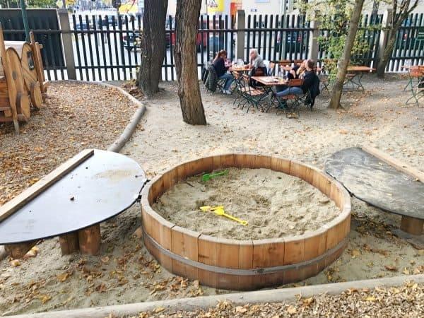 kinderfreundlicher Augustiner Biergarten mit Spielplatz in München Innenstadt