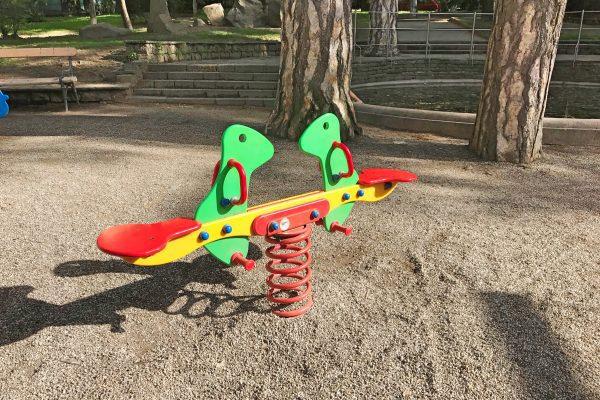 Spielplatz in Meran Italien, playground in Merano Italy