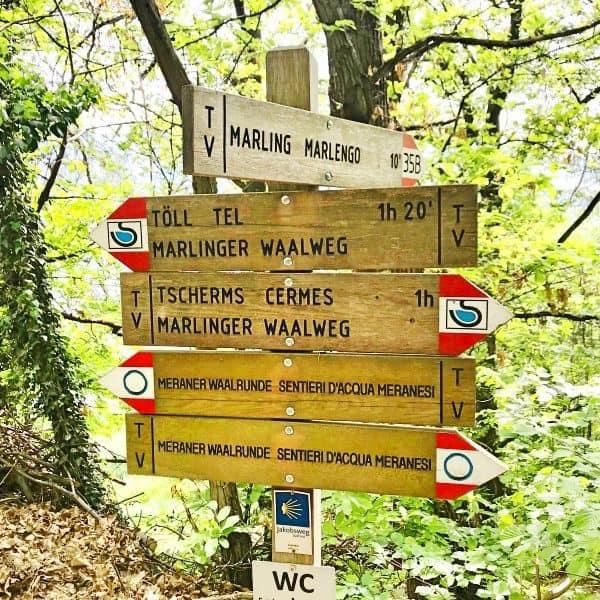 Kinderfreundliche Waalwege in Marling bei Meran Italien, children-firendly waalweg paths in Marling Merano Italy