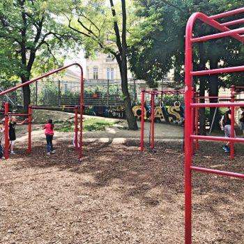 Spielplatz Esterhazypark in Wien, Schaukel, Nestschaukel, Rutsche, Sandkiste, recommended by the urban kids