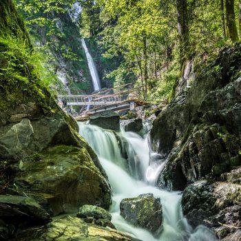 Eifersbacher Wasserfall in St. Johann, Wandern mit Kind