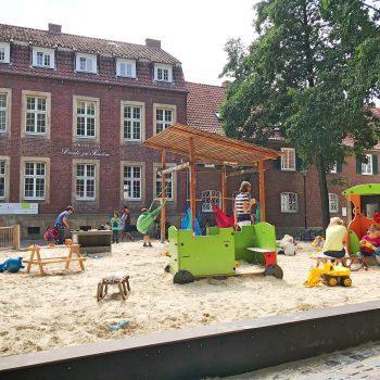 Spielplatz in der Windthorststraße Münster, Kinderspielplatz Harsewinkelplatz