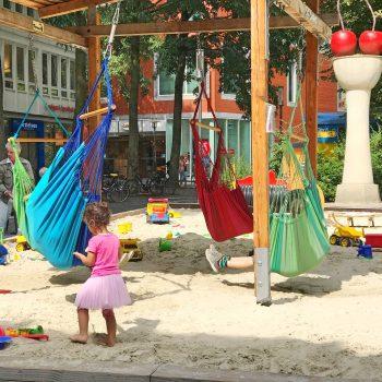 Spielplatz in der Windthorststraße Münster, Kinderspielplatz Harsewinkelplatz, , recommended by the urban kids