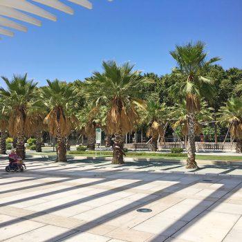 Spielplatz am Hafen von Malaga
