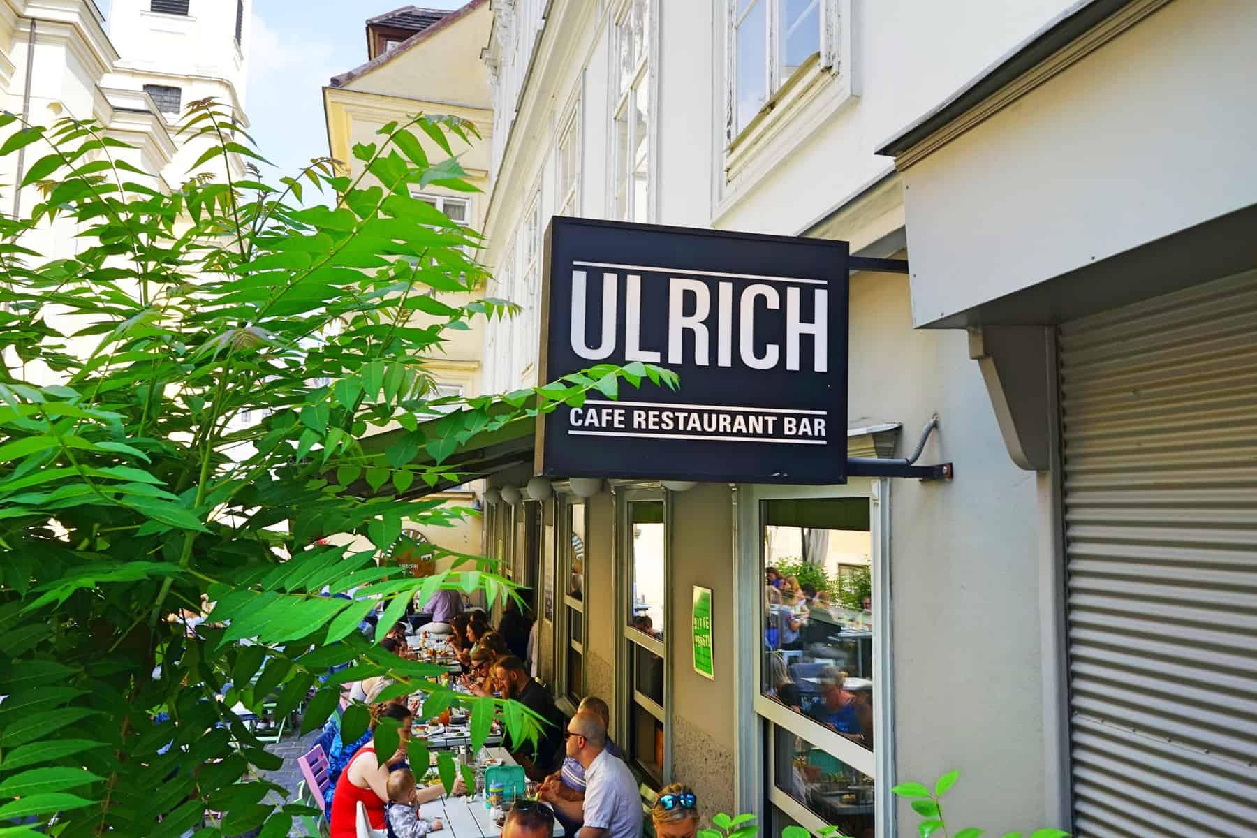 CAFÉ ULRICH IN WIEN IM 7. BEZIRK