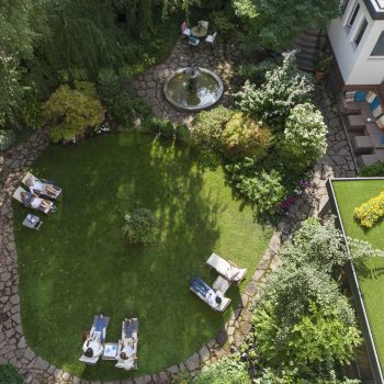 Boutique Hotel Auersperg für Familien in Salzburg; großer Garten