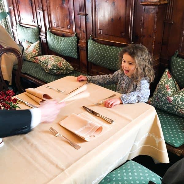 Mittagessen mit Kindern in Salzburg im Hotel Sacher