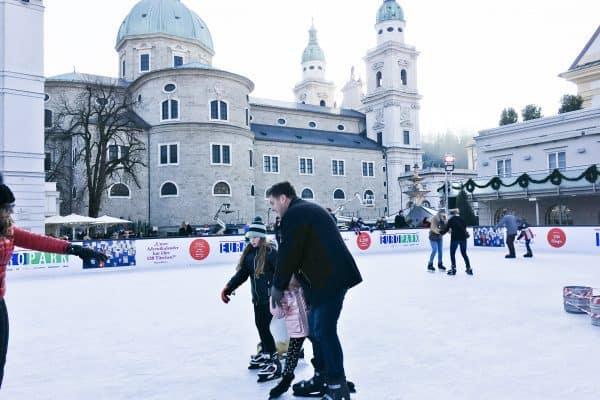 Salzburg mit Kind_Schlittschuhfahren