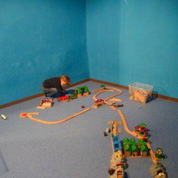 Familienausflug ins Spielzeugmuseum Salzburg mit Kindern; Brioeisenbahn