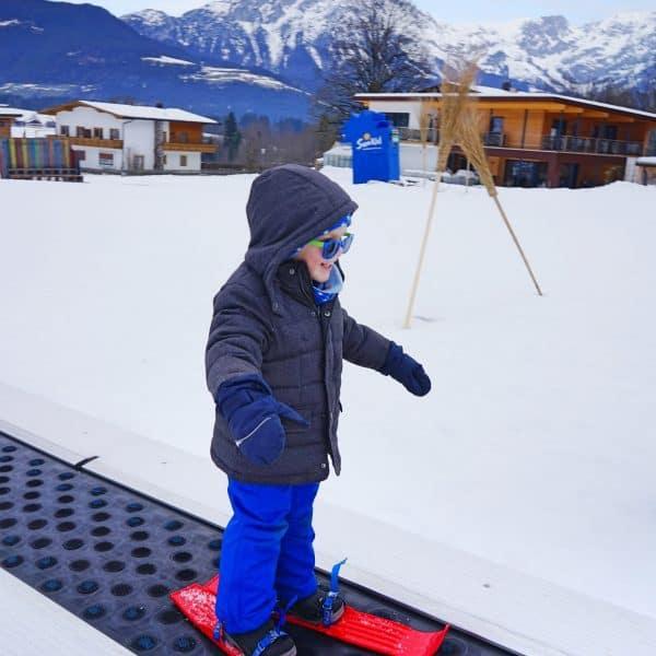 Skifahren mit Kindern in Österreich, Söll, Wilder Kaiser, Brixental, Hexengarten