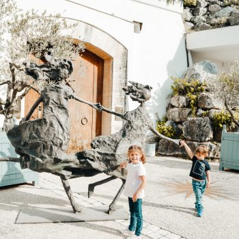 Besuch auf dem Weingut Chateau Romani - Provence mit Kindern - Provence with kids