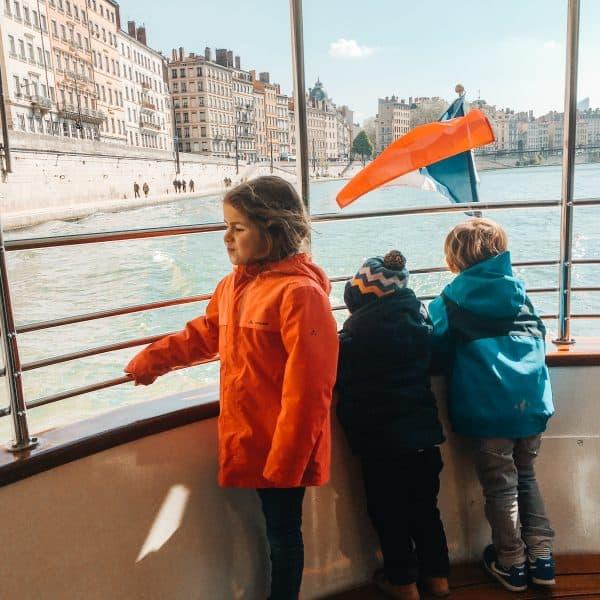 Lyon mit Kindern - Städtereise mit Kindern - Vaporetto in Lyon