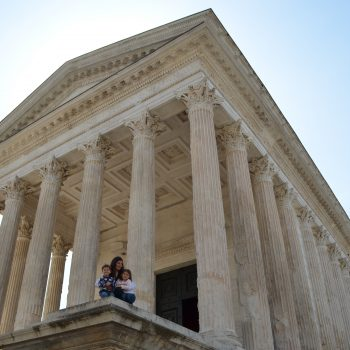 exploring Nimes with kids - france with kids