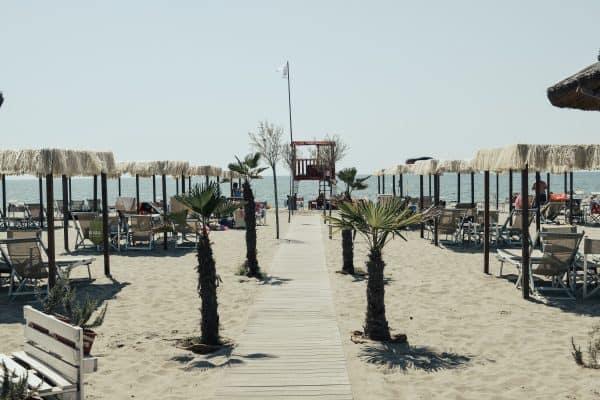 Familientauglicher Strand mit Kindern in der Toskana - Marina di Vecchiano Pisa