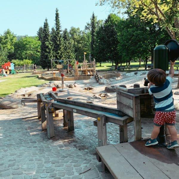 Spielplatz Klagenfurt im Europapark am Wörthersee, Ausflugstipp für Familien, Kärnten mit Kind