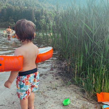 Familienausflug, Sommer Notfall Kit, Baden mit Kind