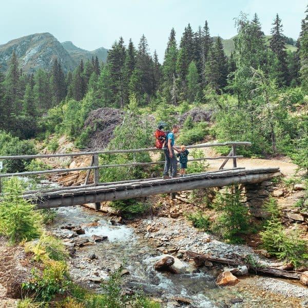 Kärnten mit Kind, Familienwanderung, Hohe Tauern, Rollbahn