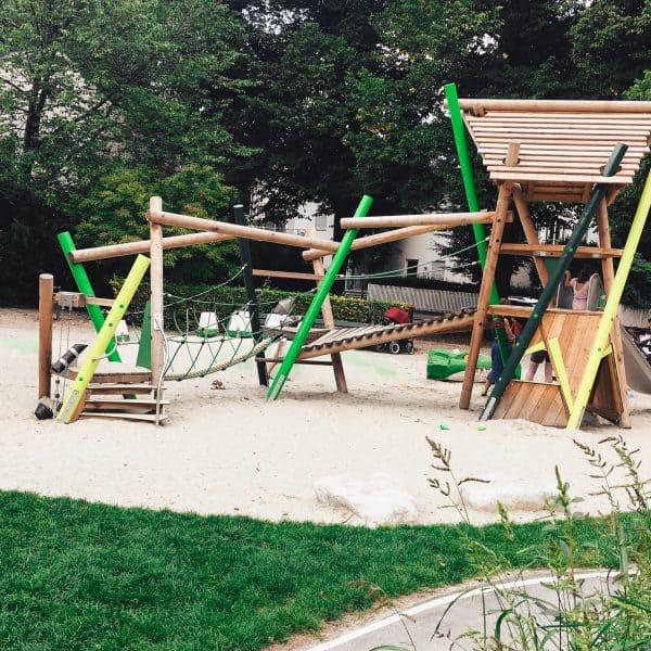 München mit Kind Spielplatz in Bogenhausen Spielplatz Scheinerstrasse1