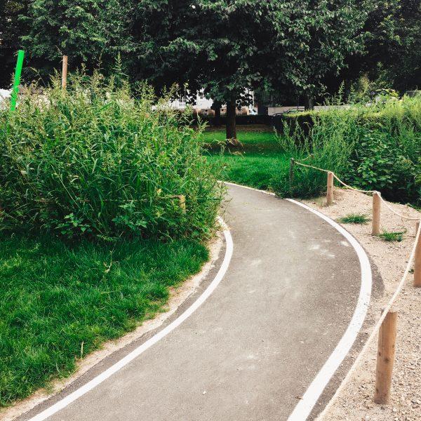 München mit Kind Spielplatz in Bogenhausen Spielplatz Scheinerstrasse_Rennbahn