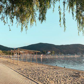 Klagenfurt mit Kind erleben im familienfreundliches Strandbad Klagenfurt am Wörthersee, kinderfreundlich baden und schwimmen