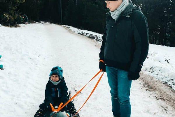 Rodeln mit Kindern in München