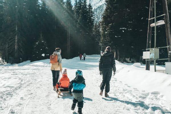 familienfreundliche Rodelbahn und Wanderung zur Gleirsch Alm