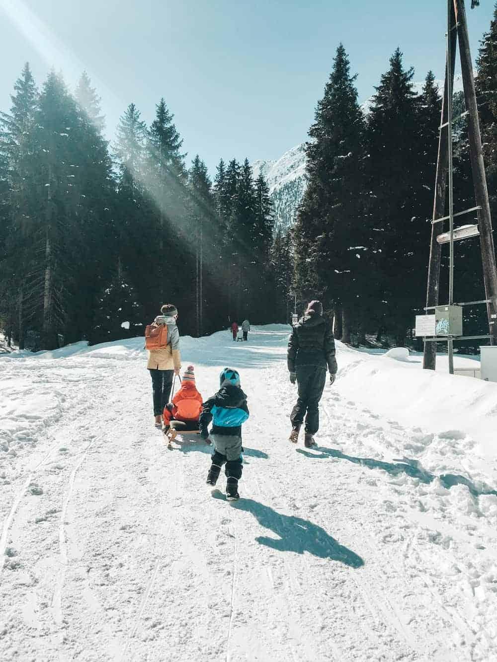 FAMILY EXCURSION AND TOBOGGAN RUN IN SELLRAINTAL