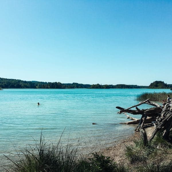 Badestelle für Familien and den Osterseen