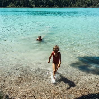 Wanderung und Baden mit Kindern um die Osterseen