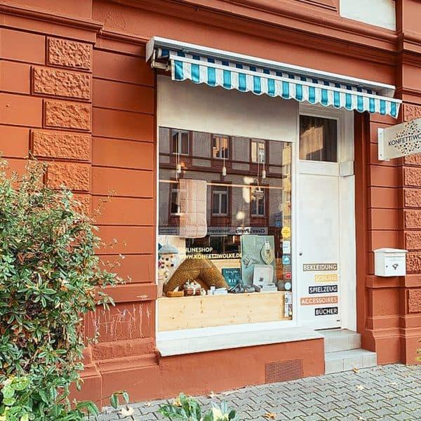 Konfettiwolke Kinderladen in Frankfurt