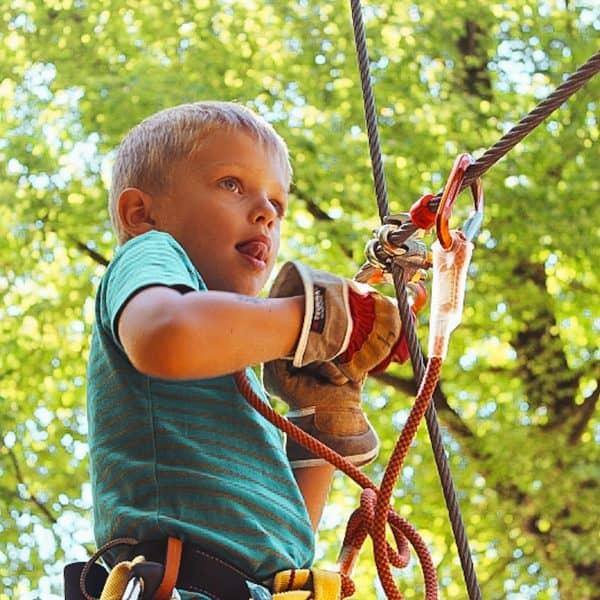 Zürich Seilpark - Klettern mit Kindern in der Schweiz