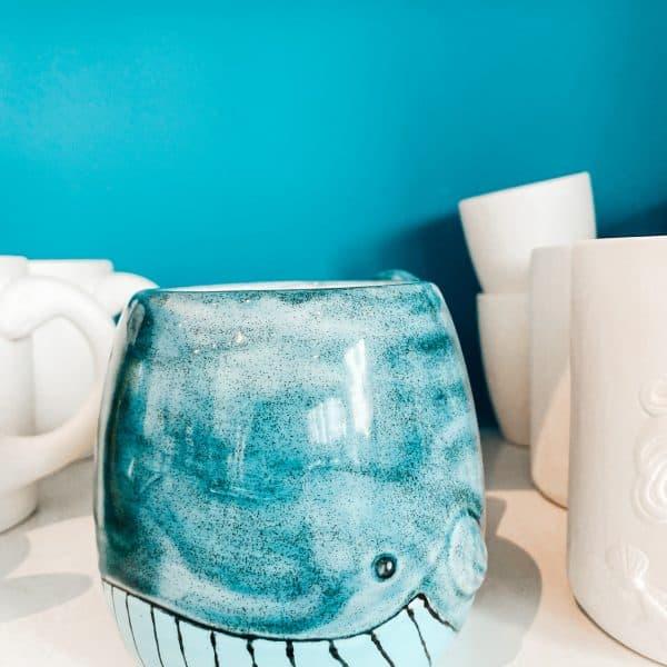 Keramik mit Kindern bemalen in München Neuhausen - Indooraktivität bei Regen in München