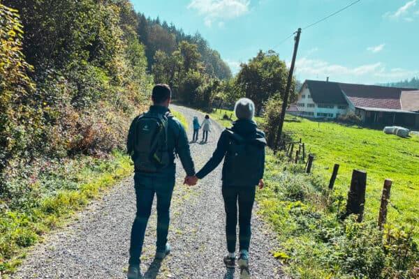 Familienwanderung im Allgäu zur Iller Hängebrücke - Wandern mit Kindern im Allgäu